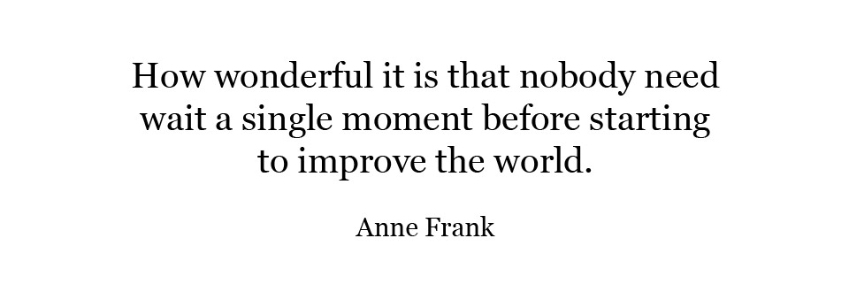 Home Slideshow – Quote Anne Frank